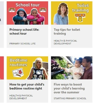 BBC Starting Primary School website - snapshot