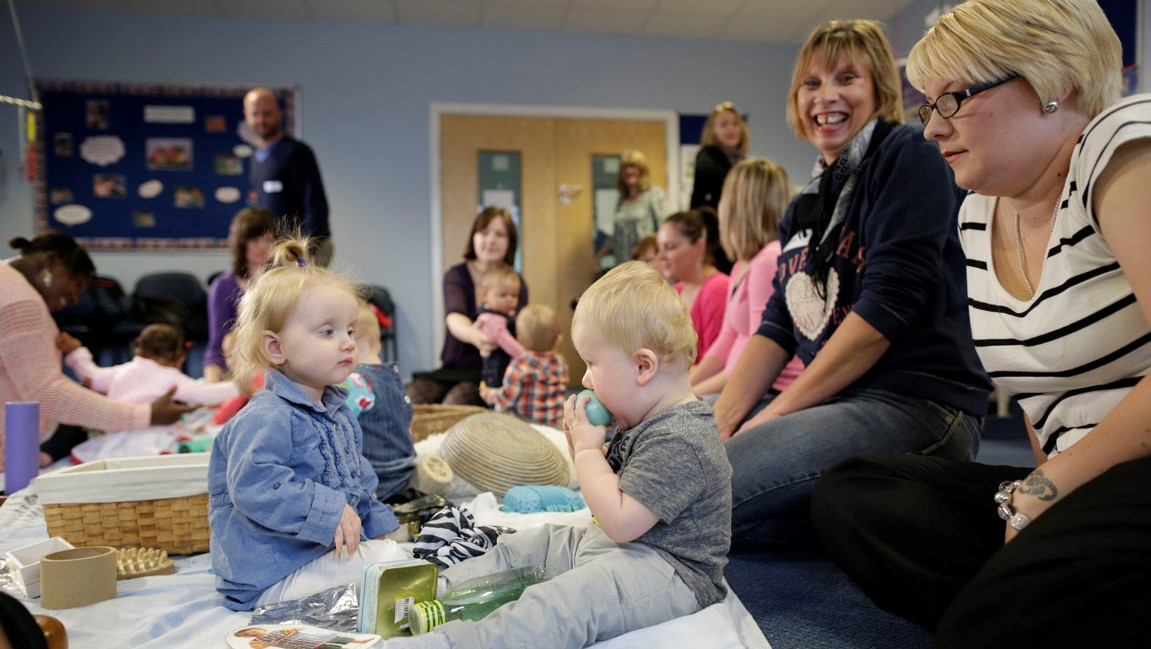 families at child health clinic drop-in