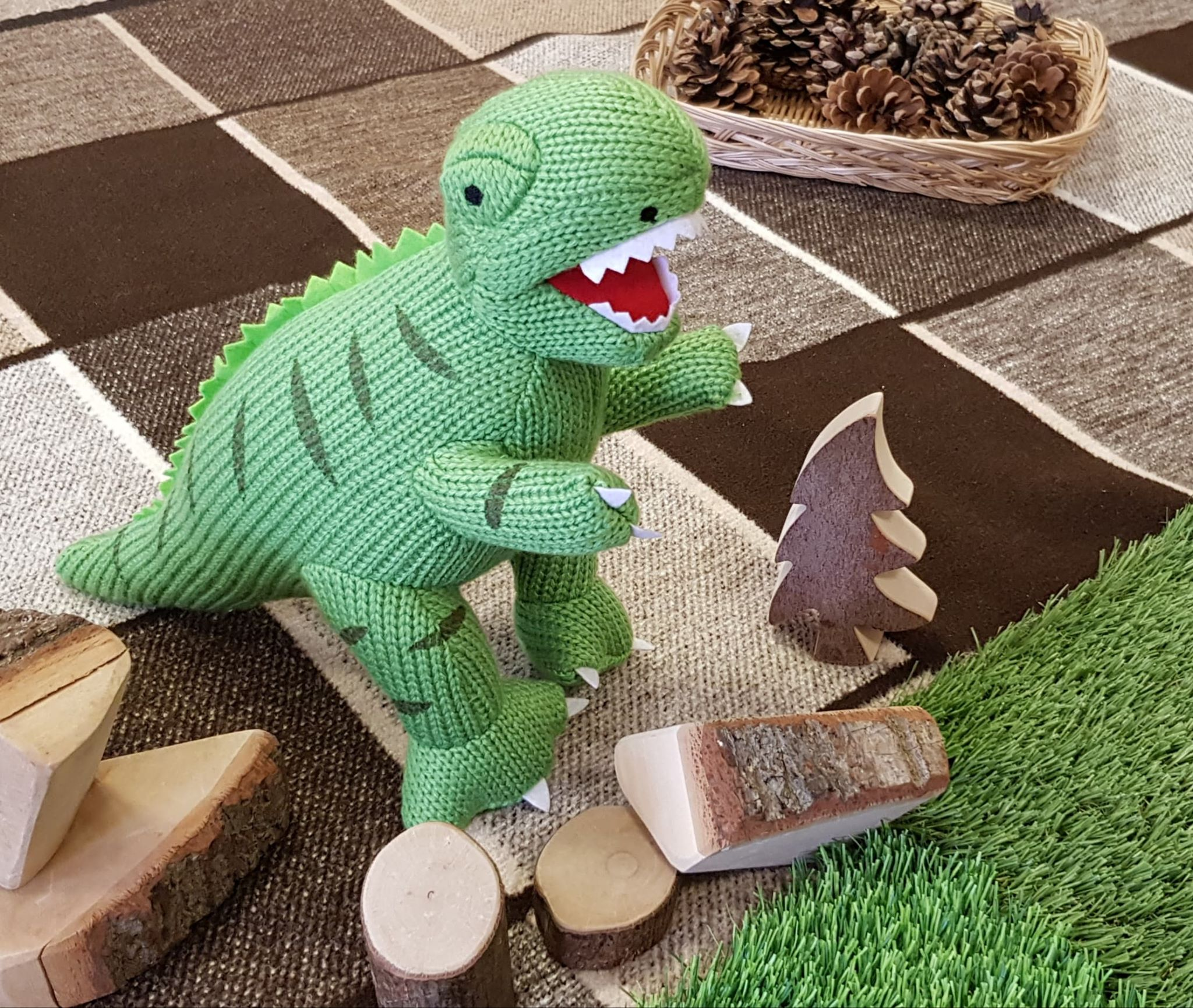 T Rex Harry in his new home