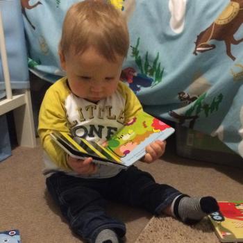 reading peep imagination library book
