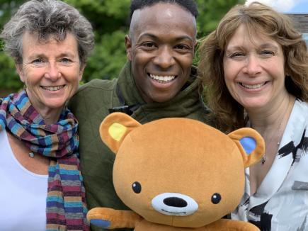 Baby Club - Sally, Nigel, Helen & baby bear