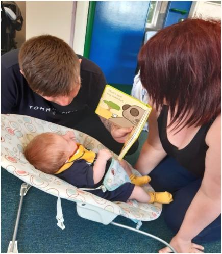 Family that attended Antenatal Peep sessions - Highland
