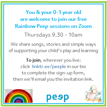 Online Peep group ad - Rainbow - from April 21