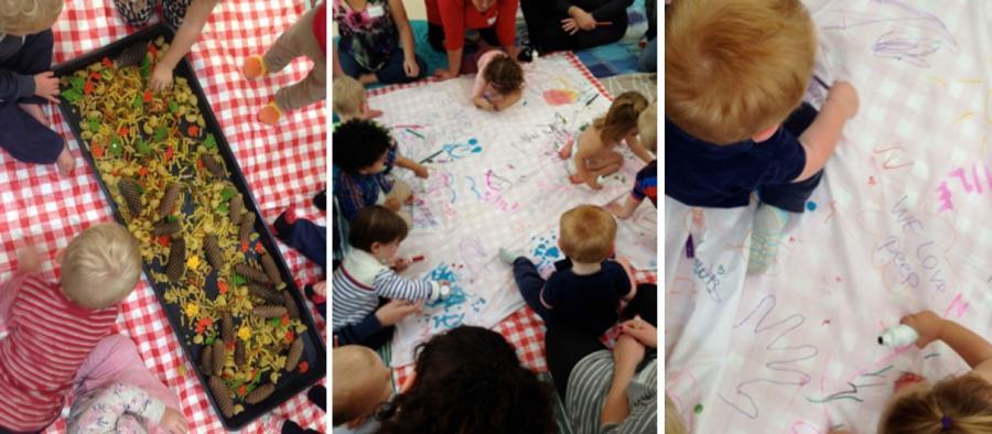 Sensory play & Mark making
