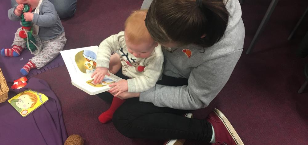 pupil and child read